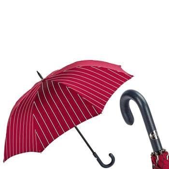 Leather Handle Striped Umbrella