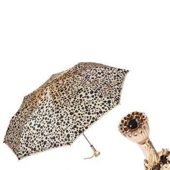 Leopard Print Folding Umbrella