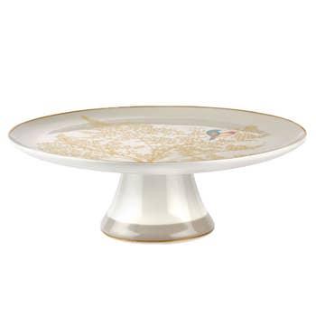 Pale Grey Lovebird Cake Stand