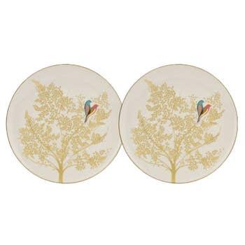 Pale Grey Lovebirds Cake Plate