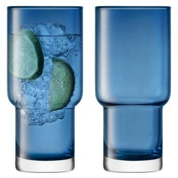 Utility Blue Highball Set of 2