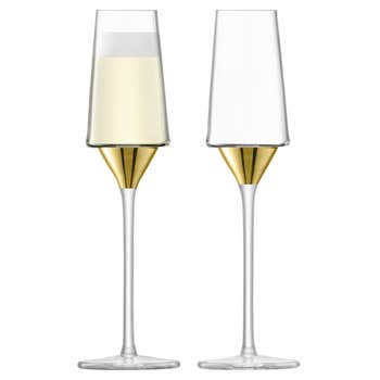 Space Champagne Flute Set of 2