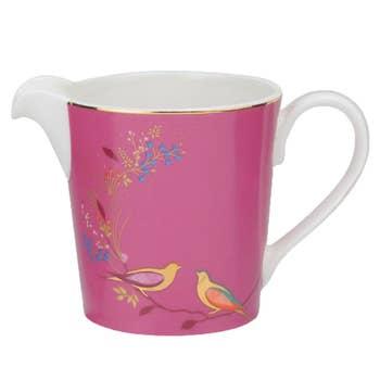 Pink Birds Cream Jug