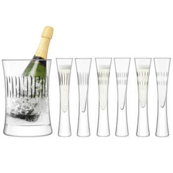 Moya Cut Champagne Serving Set