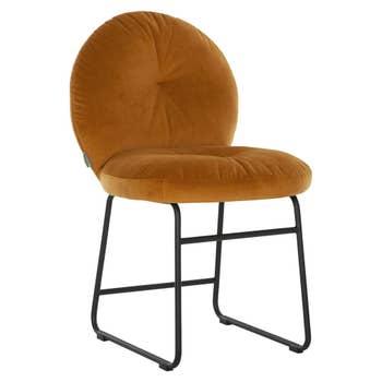 Bouton Dining Chair Ochre