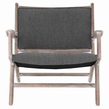 Maxwell Lounge Chair Charcoal