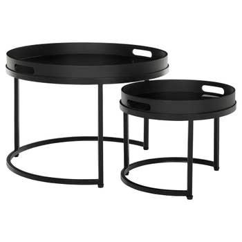 Fiber Coffee Table Set of 2