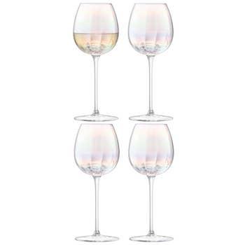 Pearl White Wine Glasses x 4