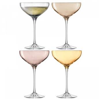 Polka Champagne Saucer Set/4