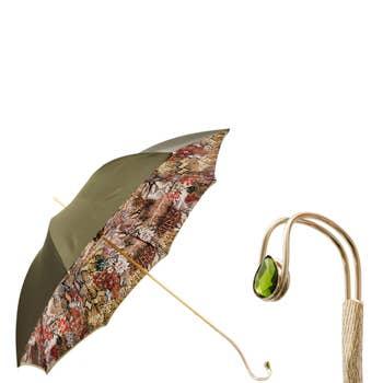 Jewelled Handle Python Umbrella