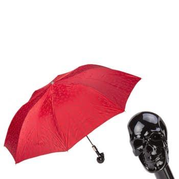 Black & Red Skull Folding Umbrella