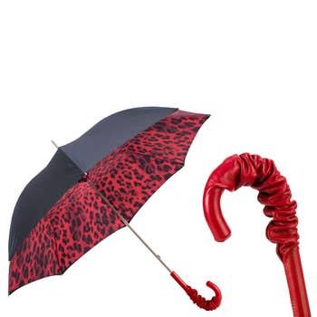 Red Leopard Print Luxury Umbrella
