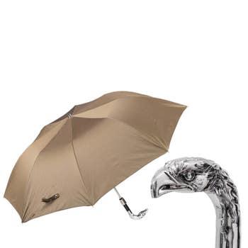 Silver Eagle Folding Umbrella