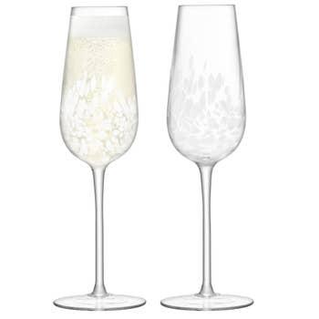 Stipple Champagne Flute Set/2