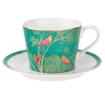 Green Bird Tea Cup