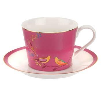 Pink Birds Tea Cup