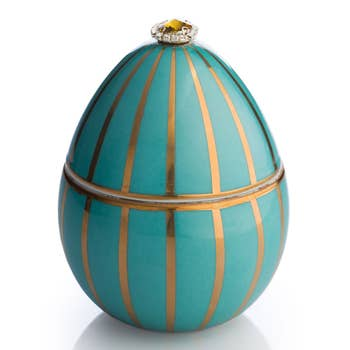 Faberge Turquoise Egg Candle