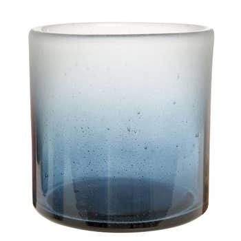 Bubble Blue Candle Holder
