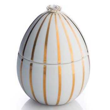 Faberge White Egg Candle