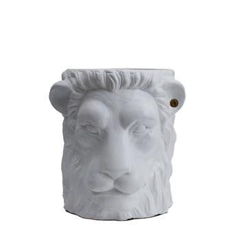 White Lion Face Planter Large