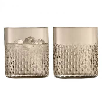 Wicker Taupe Tumbler Set of 2