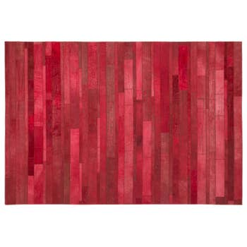Words Leather Rug